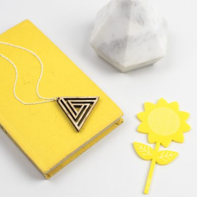 Impossible triangle necklace