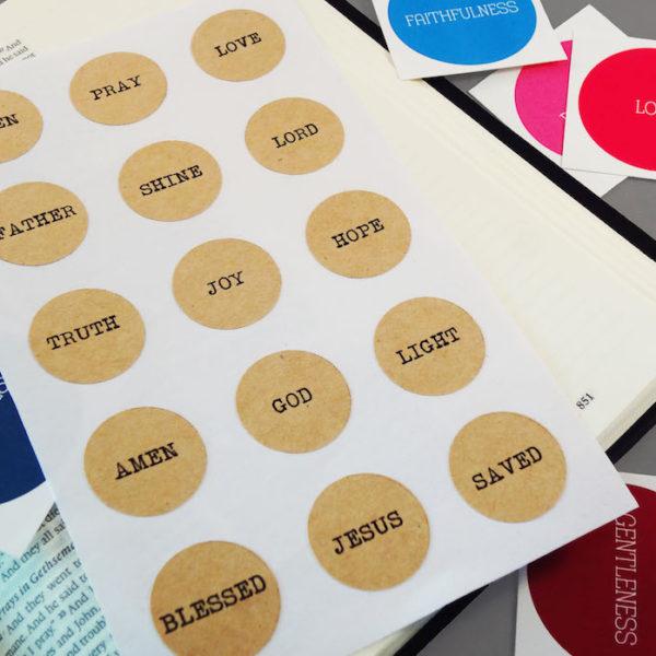Round kraft sticker sheet