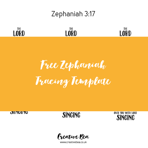 Zephaniah Bible journaling template download