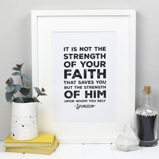 Monochrome Spurgeon Quote Print