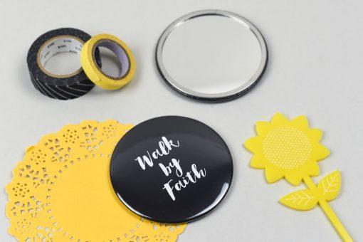 Black Walk by faith mirror - Christian Gift