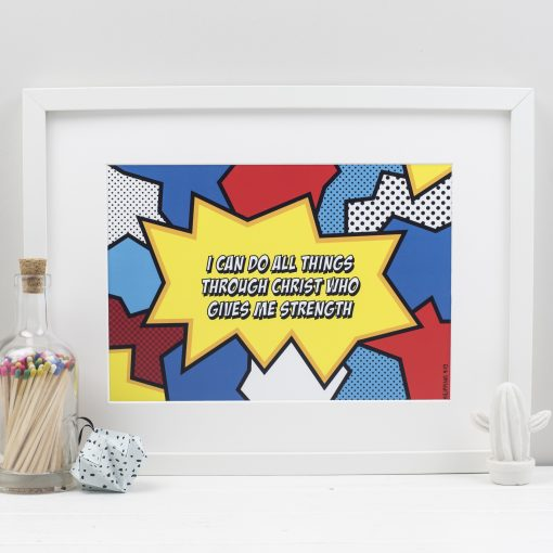 Scripture Superhero Print for children