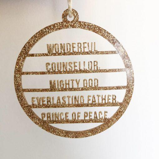 Prince of Peace Christian Tree Ornament
