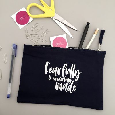 Fearfully and Wonderfully Made Christian Pencil Case