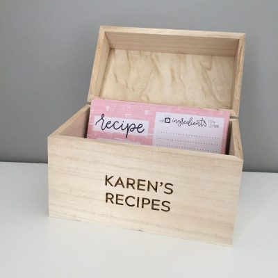Personalised Recipe Card Box
